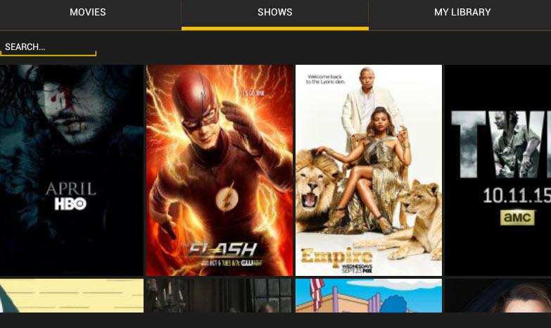 Showbox app shows
