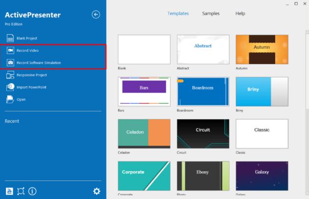 ActivePresenter screen recording tool interface