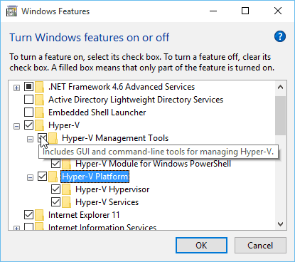 Configuring Hyper-V on Windows 10