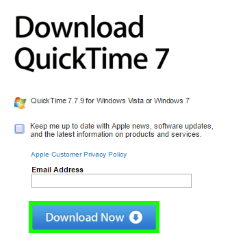 QuickTime Download For Windows 10