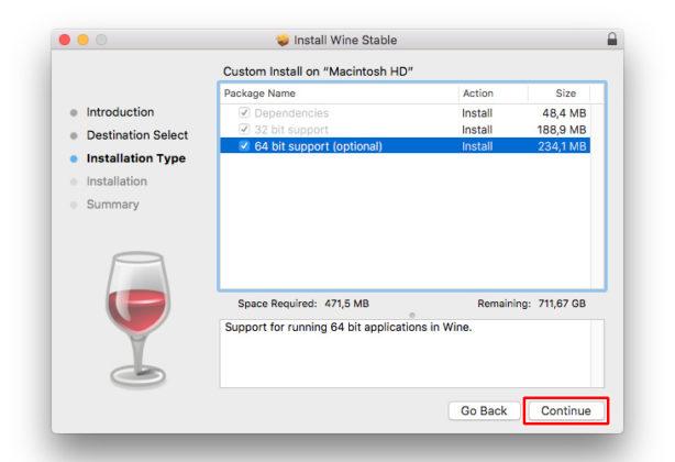 Wine on Mac