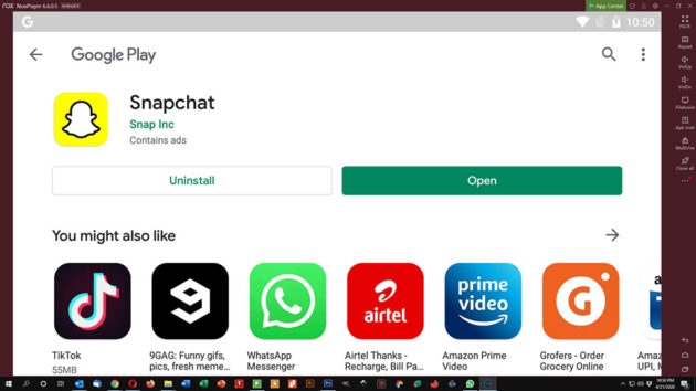 Use Snapchat on PC and Mac - Snapchat Installed and Ready for Launch