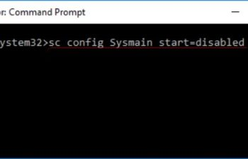 Config Sysmain Start
