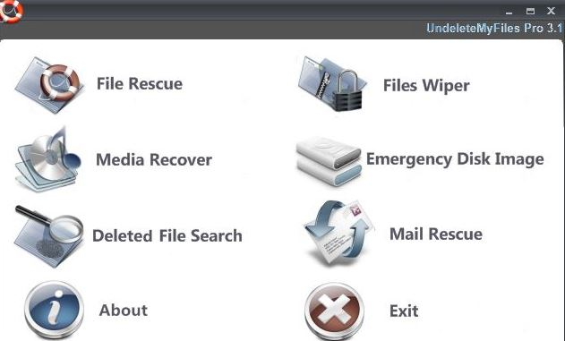 UndeleteMyFiles Pro Data Recovery Software Interface