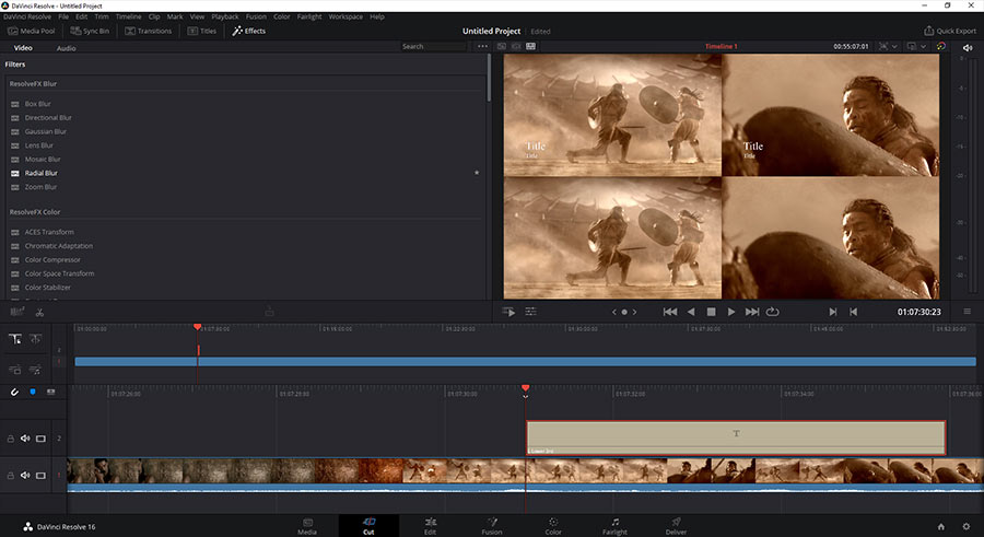 da vinci resolve video editing software
