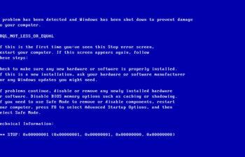 Fix Irql_Not_Less_Or_Equal Windows 10