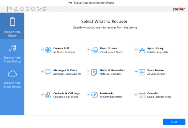 data recovery software interface