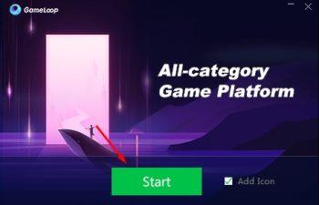 Gameloop Emulator Start Button
